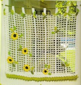 cortinas tejidas de colores en ganchillo - Buscar con ...