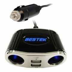 bestek usb adapter car cigarette lighter socket car splitter bestek usb adapter car cigarette lighter socket car splitter adapter 4 way plug socket usb outlet