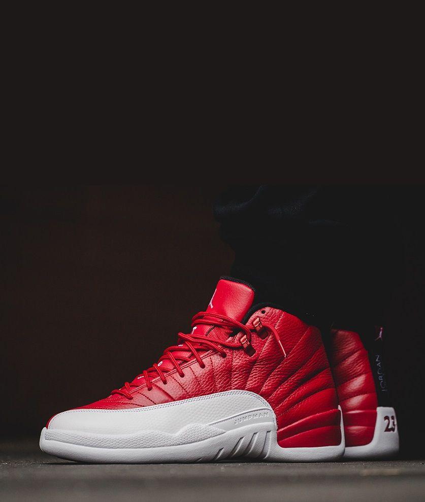 jordan 12 black gym red white