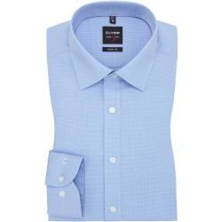 Photo of Level Five body fit shirt by Olymp in light blue for men Olymp
