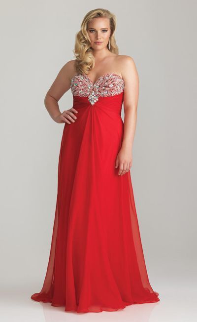 120662073a8 6764W Let your inner princess shine with this stunning plus size prom dress  by Night Moves. Rich with dazzling sequins and beadwork this elegant  strapless ...