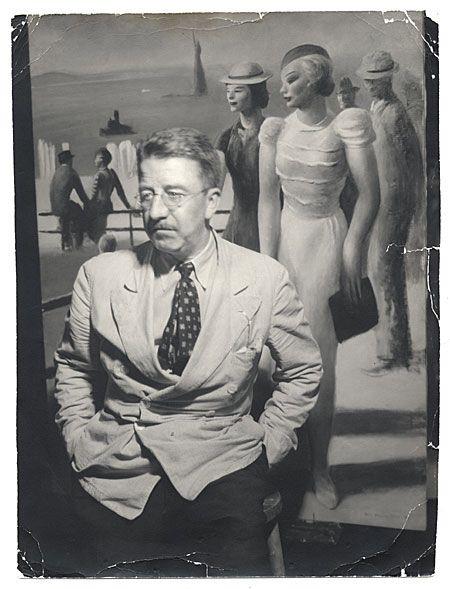 1/4- Happy Birthday, Guy Pène du Bois, American modernist painter, art critic, educator, 1884-1958.