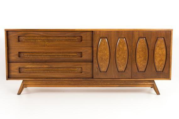 Best Young Manufacturing Mid Century Walnut Lowboy Dresser 400 x 300