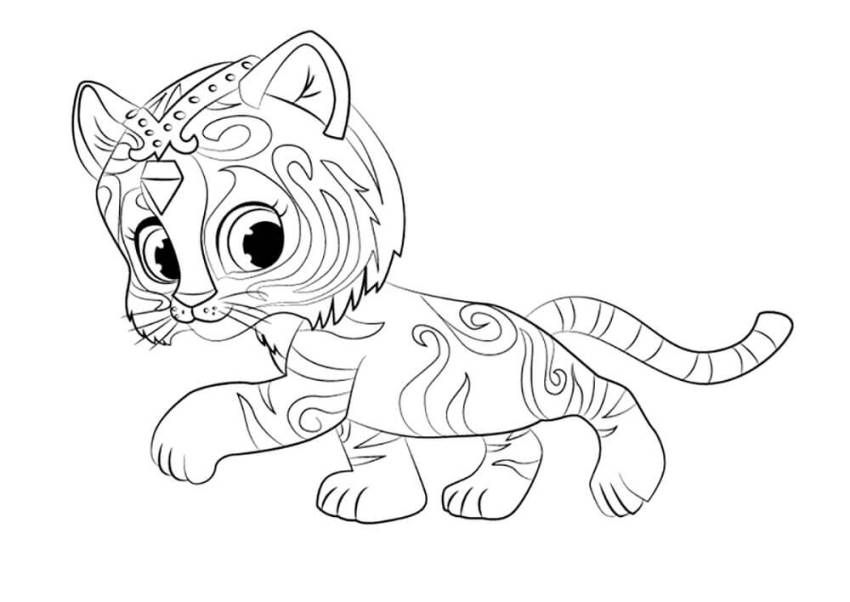 Shimmer And Shine Coloring Pages | cc birthday | Pinterest | Colores ...
