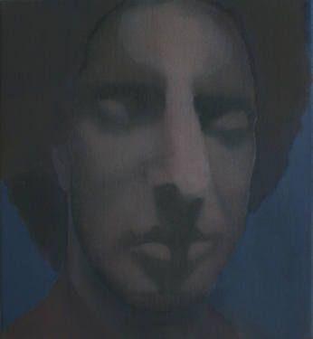 """Saatchi Art Artist Willem van der Weide;  """"Wolfgang Amadeus"""", 60x55 cm, oil on canvas, 2013 #portrait #death #Mozart"""