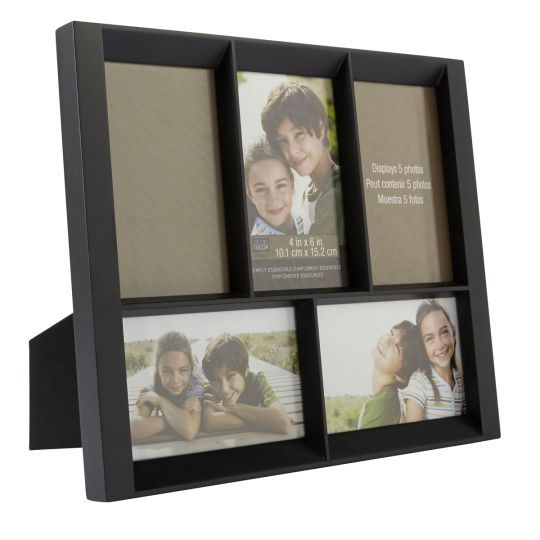 Black 5 Opening Collage Frame 4 X 6 Simply Essentials By Studio Decor Collage Frames Studio Decor Multi Picture Frames