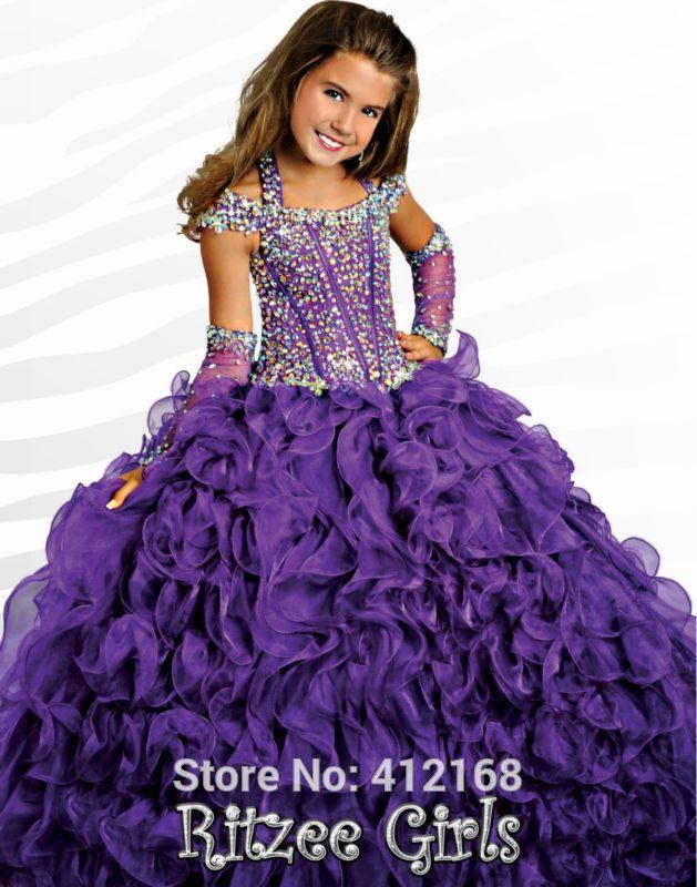 Cheap Pageant Dresses Purple