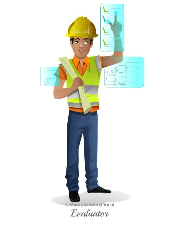 Constructor  - Vector Character  vector | cartoon | male | character