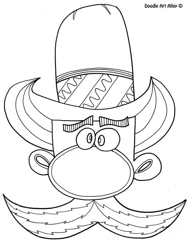 Free Printable Cowboy Coloring Pages From Doodle Art Alley