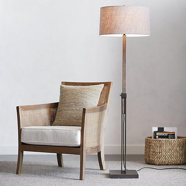 Denley Bronze Floor Lamp | Crate and Barrel
