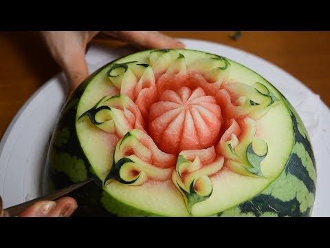 How to make 'a Flame' Watermelon Carving / FCL Team