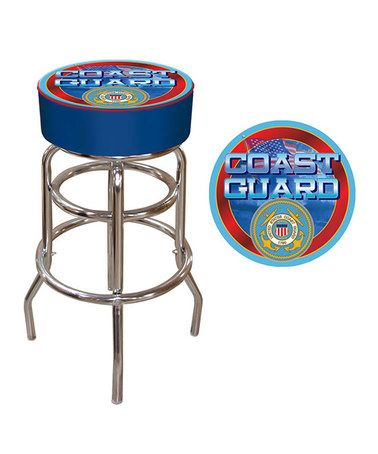 Look what I found on #zulily! US Coast Guard Padded Barstool #zulilyfinds