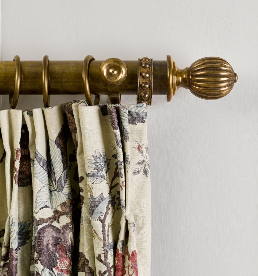 Curtain Pole In Antique Brass Curtain Poles Curtain Poles