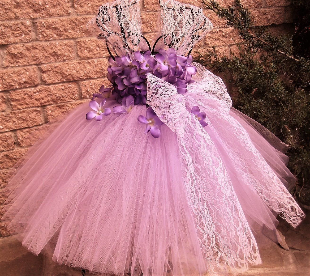 Lilac Flowers With Lace Lilac Tutu Dress Purple Lace Tutu Flower Girl Gown Pageant Girl Dress Flower Girl Dresses Tutu Flower Girl Gown Lavender Lace Dress [ 1169 x 1312 Pixel ]