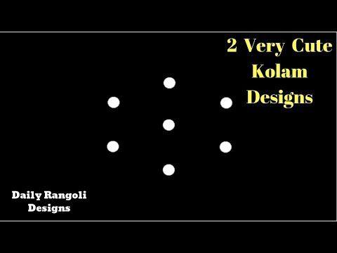 Two Very Cute Diwali Rangoli Designs 3X2 dots | Easy Small beginners Rangoli Kolam muggulu #1294