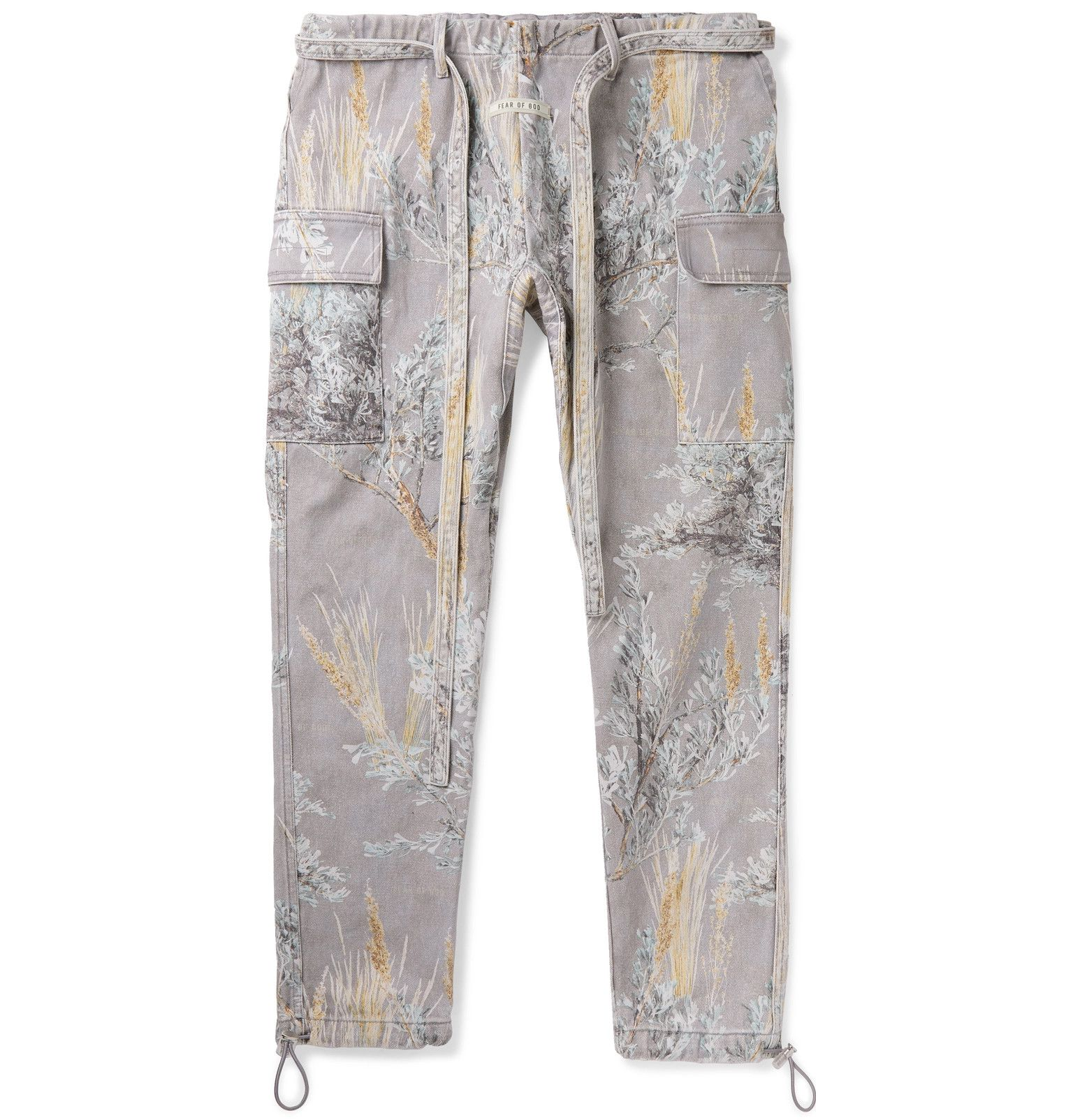 Fear Of God Tapered Printed Denim Cargo Trousers Printed Denim Cargo Trousers Denim Trousers