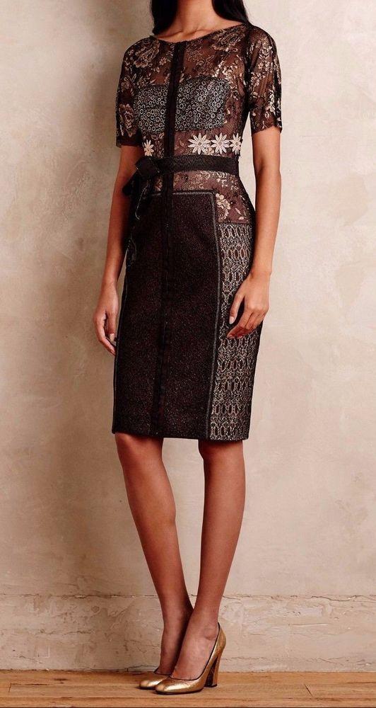 3dea9932 Anthropologie Marguerite Sheath Dress From Beguile by Byron Lars 4, 10 -  NWT #ByronLars