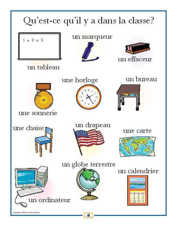 french classroom items poster worksheets french classroom and language. Black Bedroom Furniture Sets. Home Design Ideas