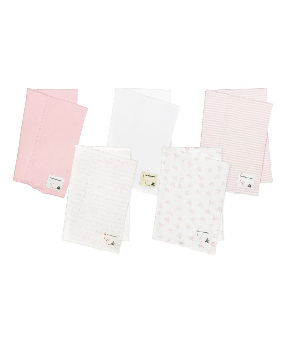 Blossom Organic Burp Cloth - Set of Five