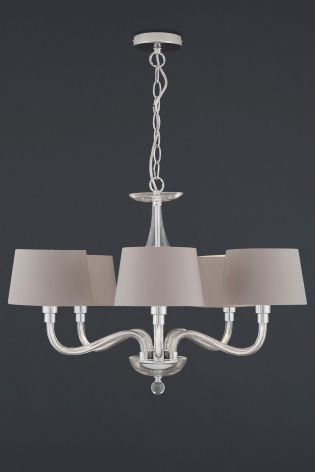 Buy Knightsbridge 5 Light Glass Chandelier With Shades From The
