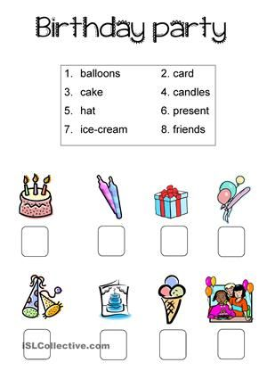birthday party planning worksheet