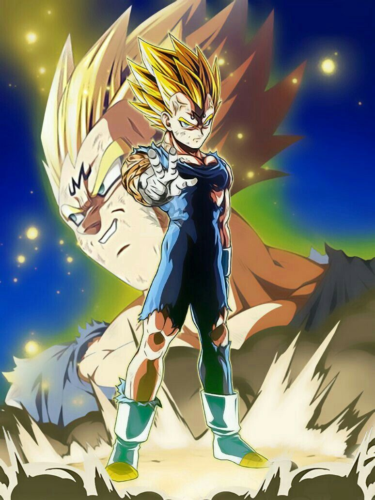 Pin by kira shi on dbz dragon ball z dragon ball dragon - Dragon ball z majin vegeta wallpaper ...