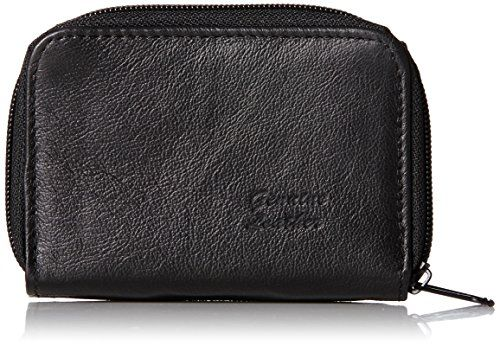 Roma Leathers Genuine Leather Mini ID   Credit Card Holder (Black) *** More info could be found at the image url.