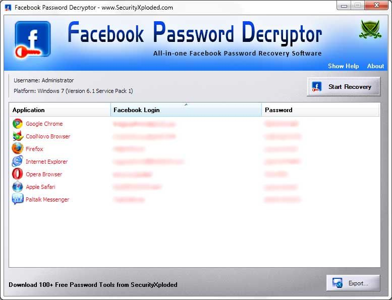 Data Recovery Software Center: Facebook Password Decryptor | Data