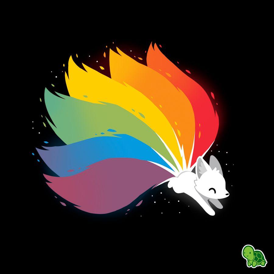Rainbow Kitsune (Pt. 2) | Kitsune, Cute animal drawings, Cartoon drawings  of animals