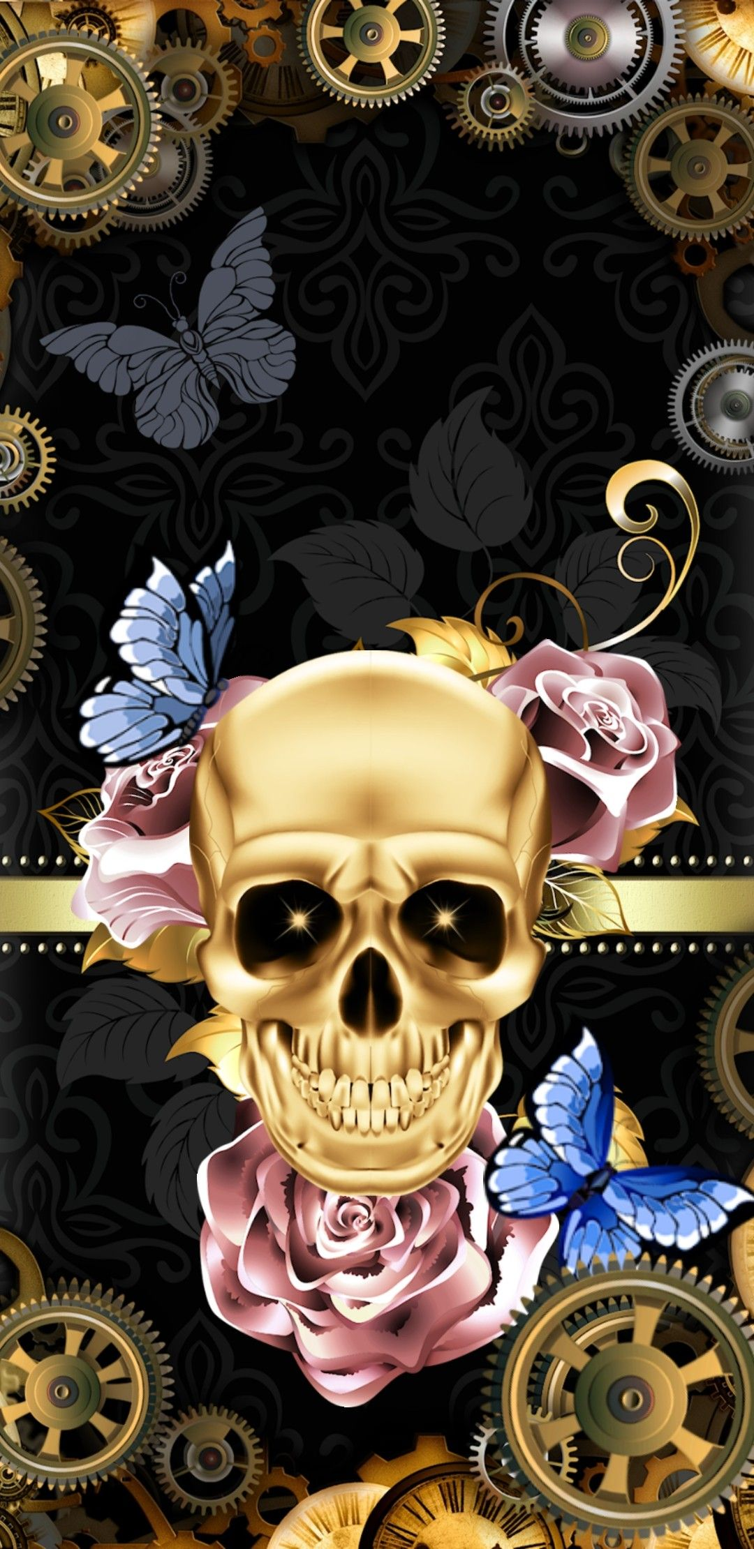 Pin By Kayla Marie Downing On Skull Skeleton Wallpaper Skull Wallpaper Skull Art Sugar Skull Art