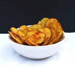 Cheesy Baked Potato Chips - Everything you want in a chip: crunch, flavor, cheesiness, and less greasy. Not fried. It's amazing! (gluten free)
