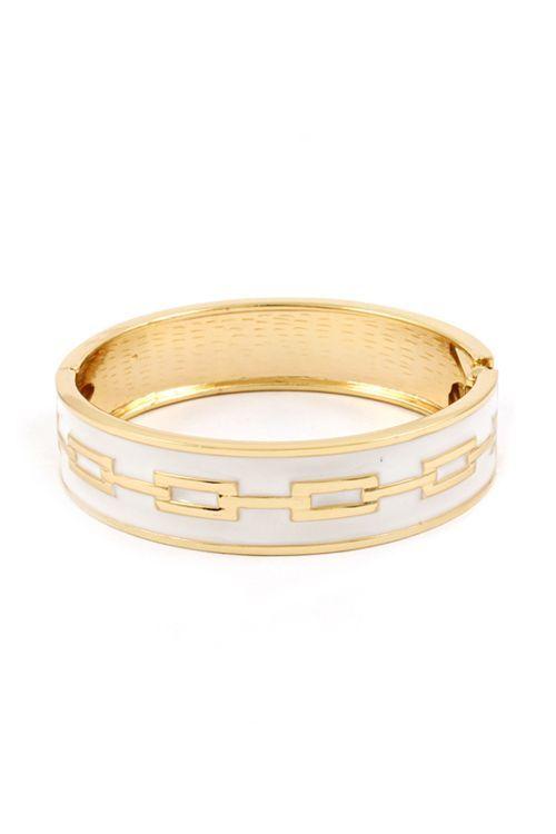 white & gold bangle <3