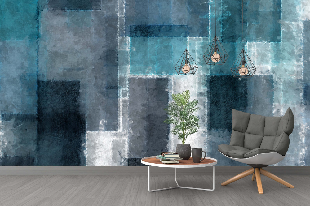 Bumpy Glass Design Abstract Blue Black Gray Background Wallpaper Self Adhesive Peel And Stick Wall Sticker Wall Decoration Removable In 2021 Glass Design Home Decor Wall Art Grey Wallpaper