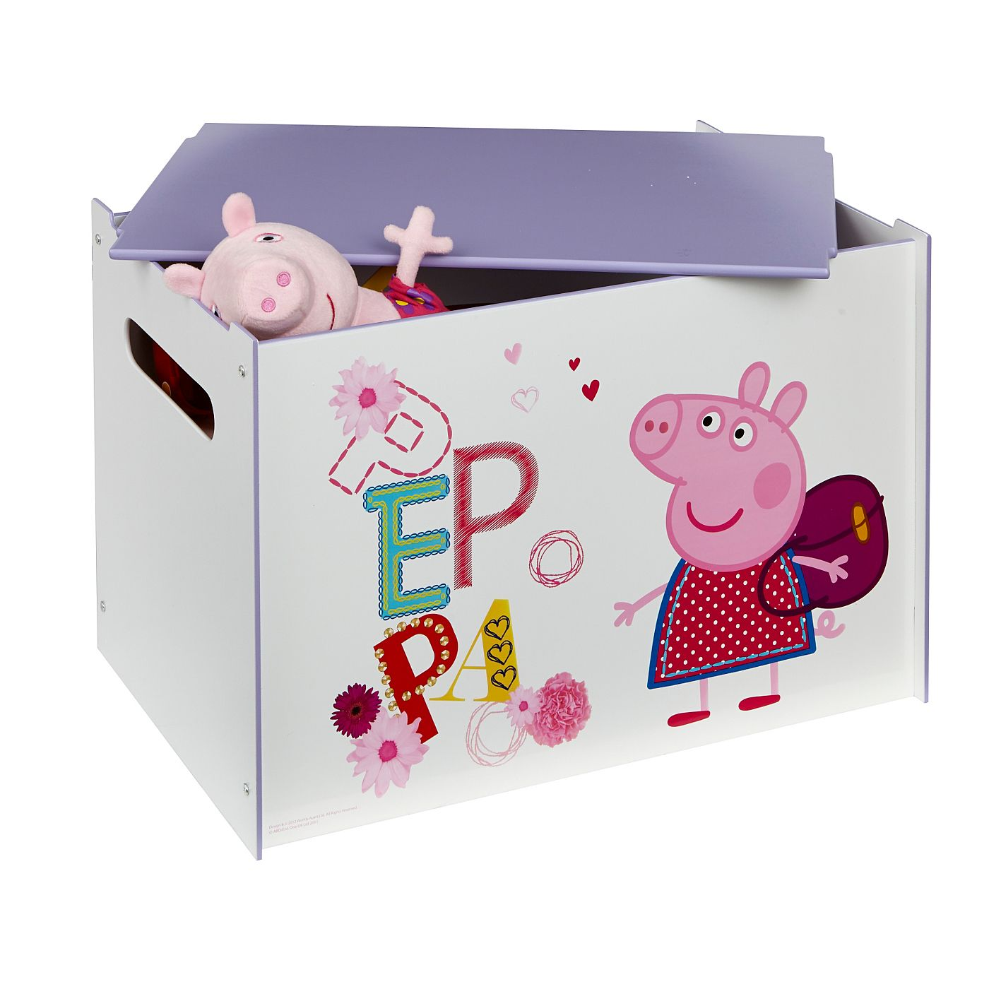 Need somewhere to stash the toys? The Peppa Pig toybox from George ...