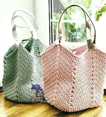 Une idée de sac au crochet pour l'été – La Grenouille Tricote – Taschen