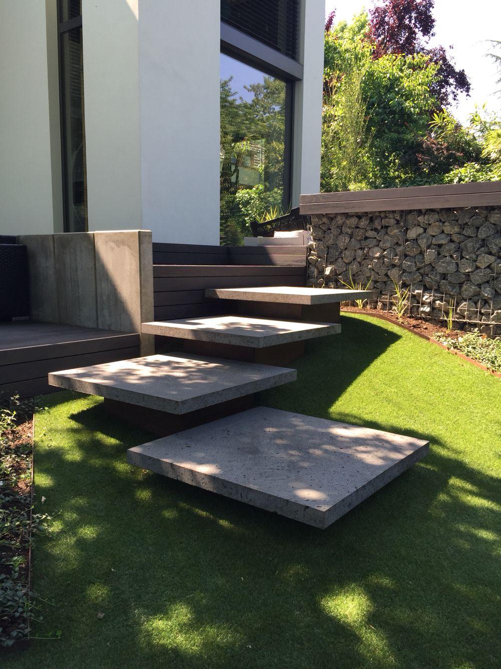 Stufen Moderner Garten Gartengestaltung Garten