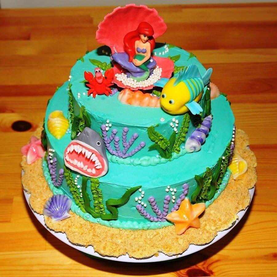 30 inspired image of little mermaid birthday cakes