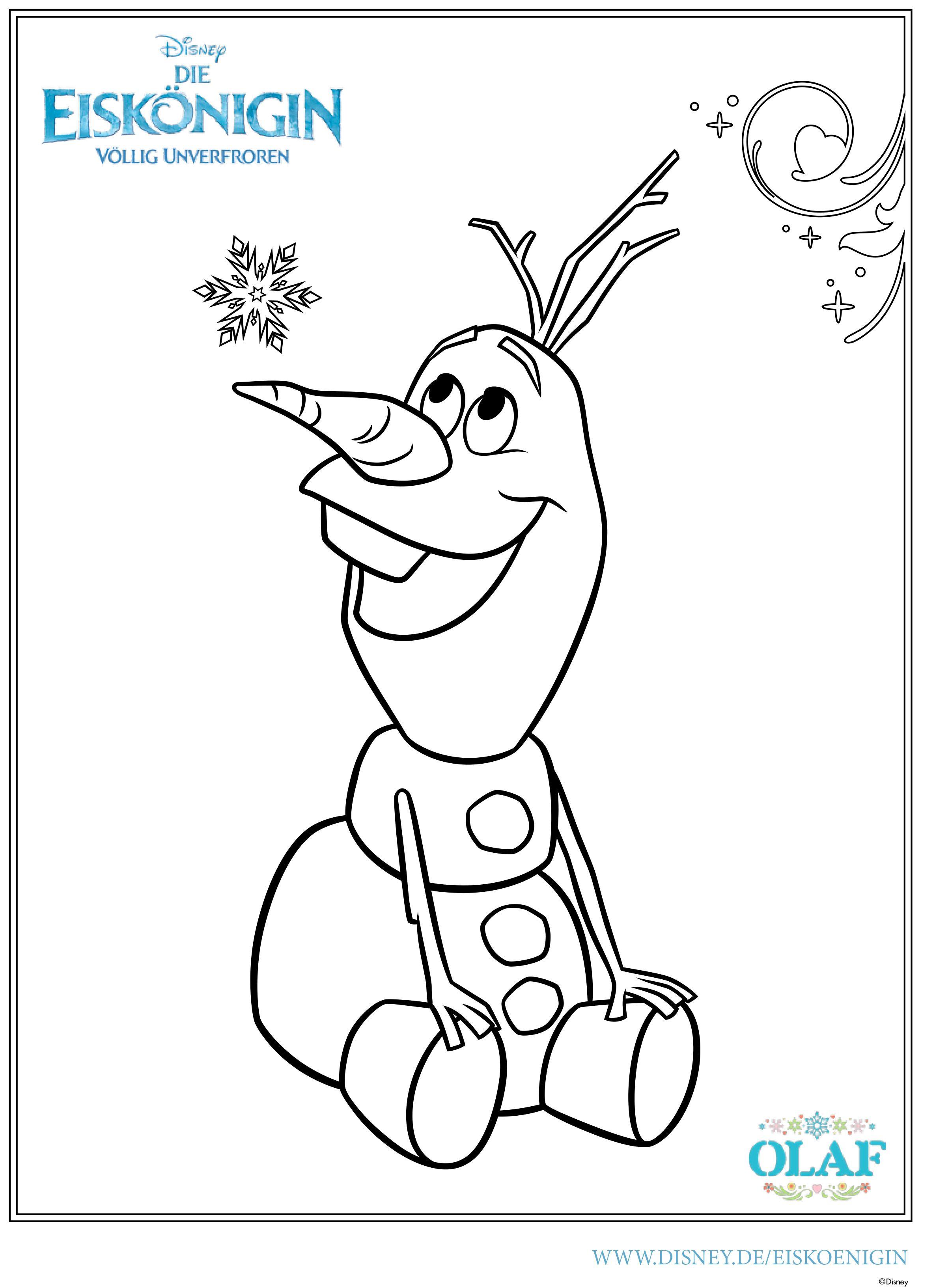 Die Eiskönigin - Malvorlage Olaf Weihnachtsbilder zum