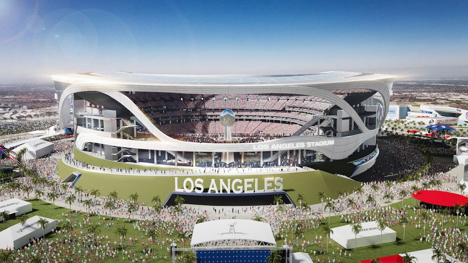 Rams Moving To L A Chargers Have Option To Join In 2020 Los Angeles Stadium Sports Stadium