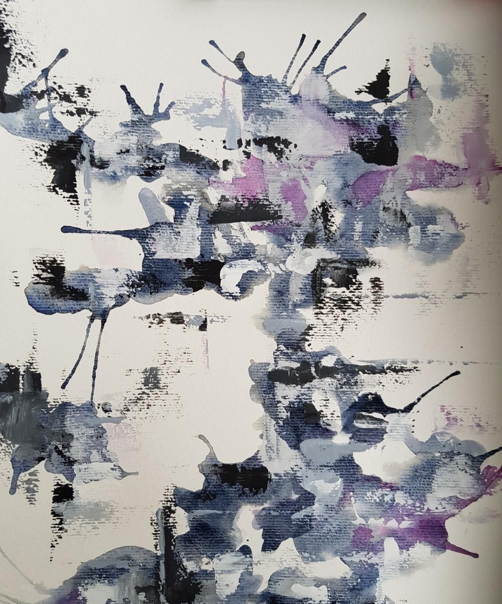 In My Studio Painting Aquarelle Taches Aleatoires D