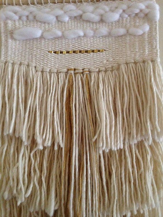 weaving wall hanging / magic hour / hand woven by HAZELANDHUNTER