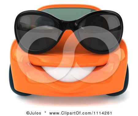 Orange Car Clip Art