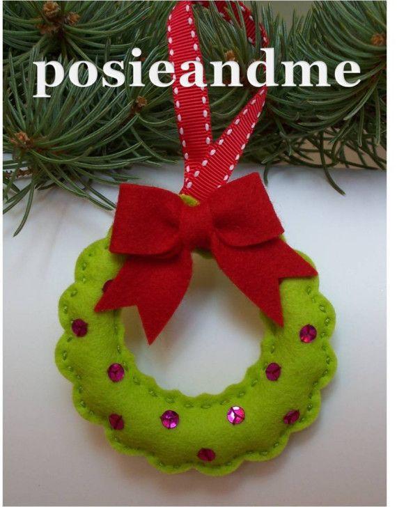 Felt Christmas Ornaments Felt Christmas Tree Ornaments Make Handmade Crochet Craft