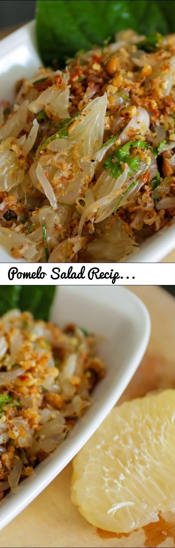 Pomelo Salad Recipe (Yum Som O) ยำส้มโอ   Hot Thai Kitchen