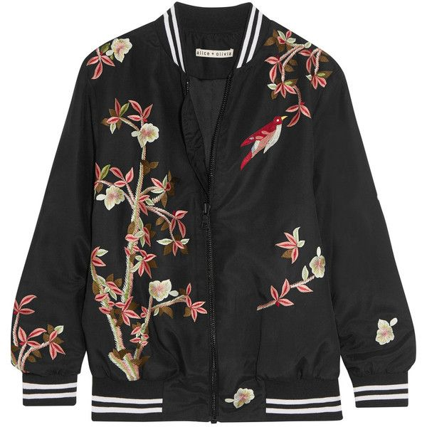 Silk Embroidered Bomber ...