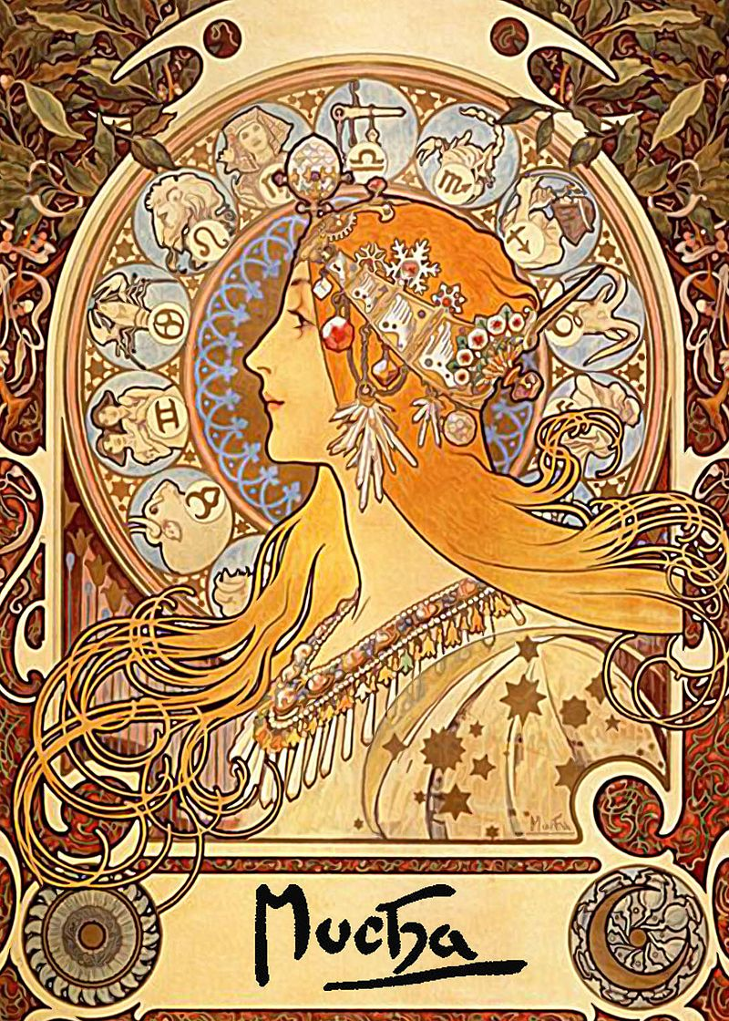 Art Nouveau Wikipedia Alphonse Mucha Zodiac Art Nouveau Wikipedia The Free