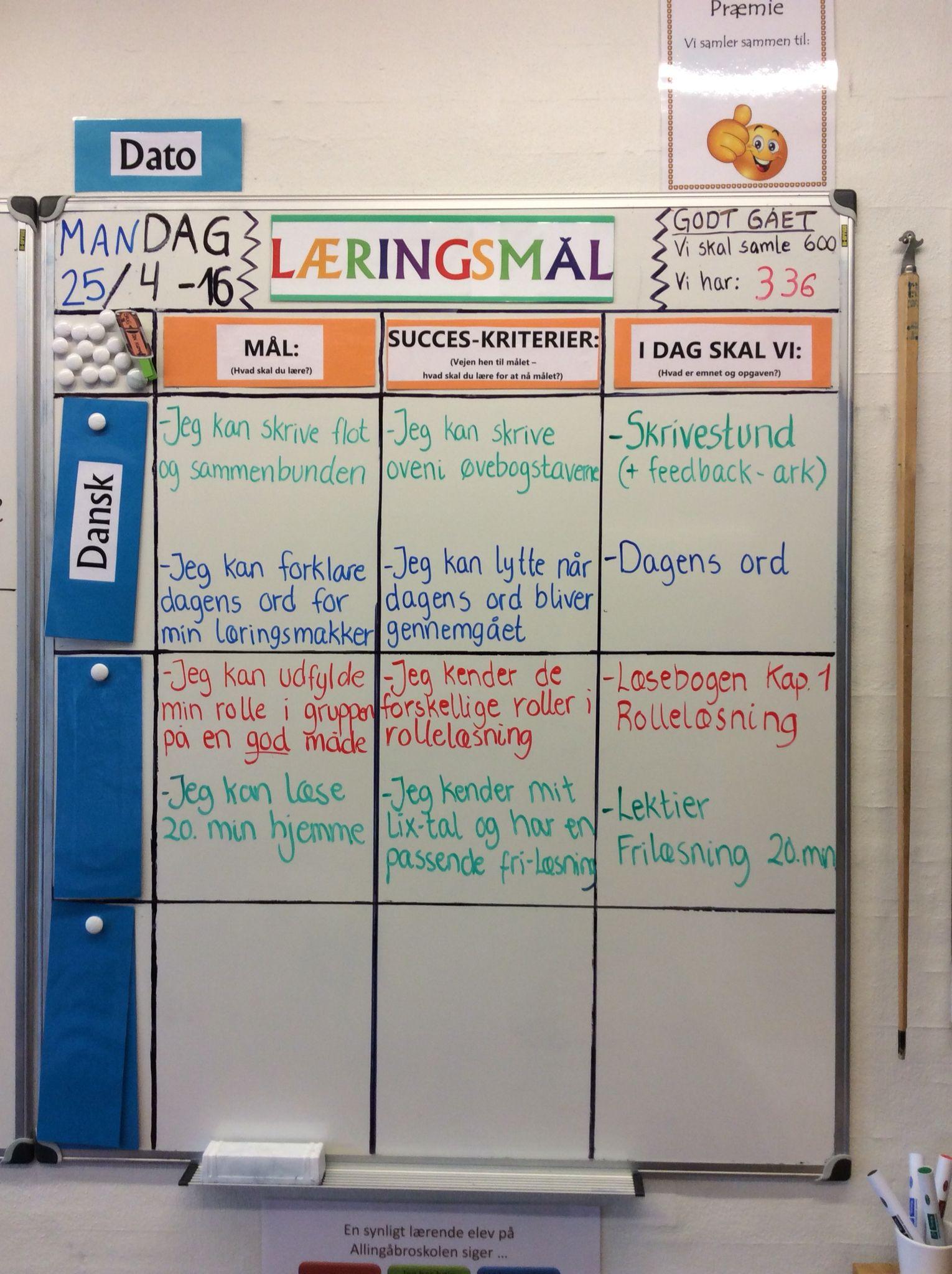 Dagens læringsmål i klasse Rollelæsning er stadig et hit i