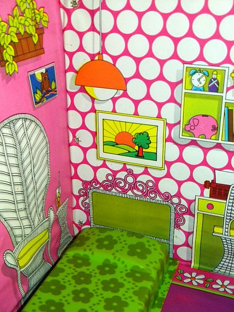 Vintage 1969 Barbie Country Living Home  Furniture2