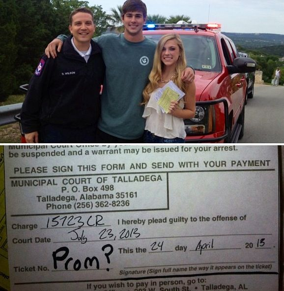 Cutest way to ask a girl to prom have a police officer pull her cutest way to ask a girl to prom have a police officer pull her over ccuart Gallery
