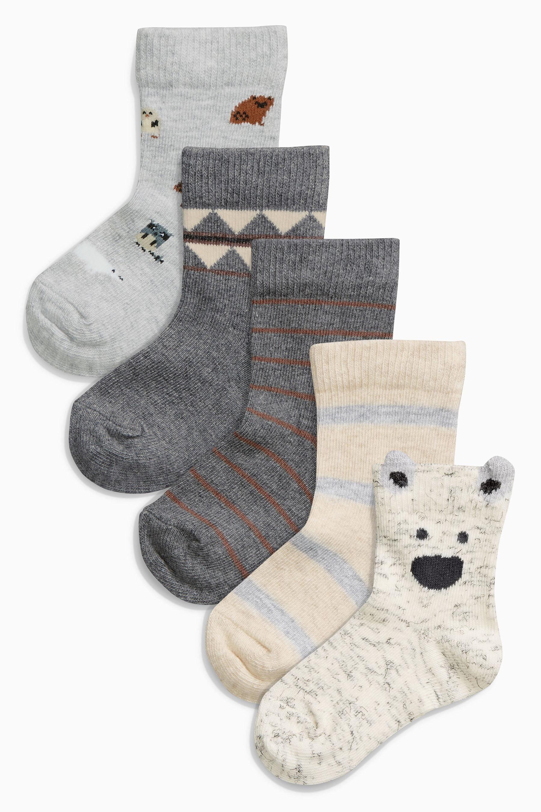 Kaufen Sie Socken mit Tiermotiv, Fünferpack (0–18Monate) heute online bei Next: Deutschland